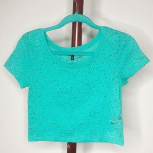 (Express) Floral Lace Crop Top Size XS